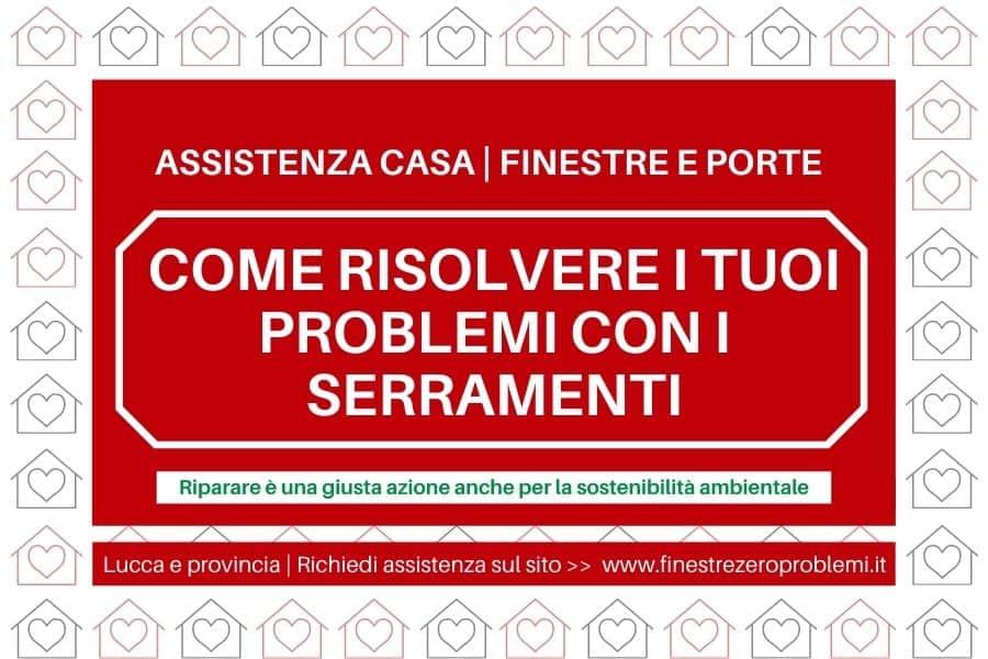 come riparare finestre e porte Lucca e provincia
